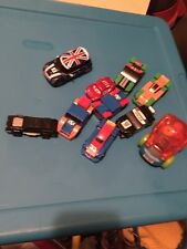 2009~Lego Racers~ General Mills Cereal~Cars Pull Speed Car Blue Box Car