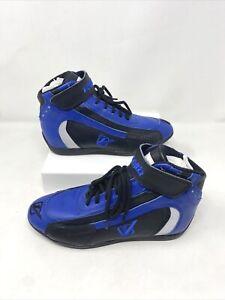 Men's Velocity Blue & Black Racing Shoes, Men's Size 3, Leather, Motorsport