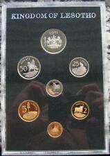 1979 KINGDOM OF LESOTHO PROOF SET OF 7 COINS with Original Cover - Nice - NCC