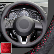 Hand Sew Steering Wheel Cover Stitch on Wrap for Mazda M 3 6 CX-3 CX-5 CX5 13-16