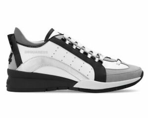 Dsquared2 551 Sneakers Snm0505 M1616 Leather Mens Trainers White Dsquared Shoes