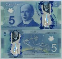 CANADA 5 DOLLARS 2013 / 2016 P 106 POLYMER SIGN WILKINS & POLOZ UNC