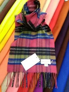 100% Pure Cashmere Scarf by House of Cashmere | Purple Check