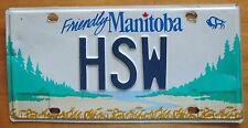 Manitoba 2007 VANITY License Plate HSW
