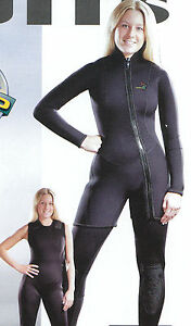 New Akona Women's 3mm Farmer Jane Two Piece Diving Wetsuit Sz 13 MADE IN USA!!