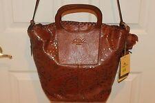 NEW! NWT! PATRICIA NASH Vintage Laser Lace Veg Tan Leather VILANI Tote Bag $349