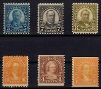 G138297/ UNITED STATES / LOT 1923 - 1926 MINT MH CV 108 $