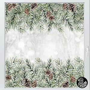 Dizzy Duck Christmas Window Sticker Pine Cone Border - Xmas Decorations