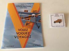 ~~ Louis Vuitton NY Exhibition Volez Voguez Voyagez Program Yellow Car Pin 2018
