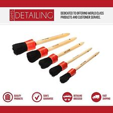 5 x Sam's Car detailing brushes - Suitable for Interior, Alloy Wheels