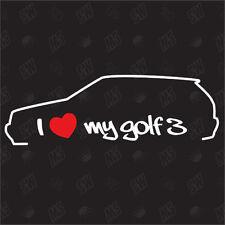 Amo mio VW Golf 3 Modello MK3 Tuning Adesivo,Auto Ventilatore adesivo,Car