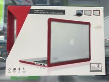 "DUX FOR 15"" MACBOOK PRO WITH RETINA DISPLAY RED/CLEAR RUGGED CASE 3YEAR WARRANTY"