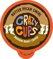 Crazy Cups Butter Pecan Swirl Flavored Coffee For Keurig Brewers 22 or 80 count