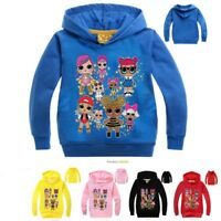 Kids Girls Pullover SweatShirt Hoodies Cartoon Casual Tops Shirt Kid Clothes