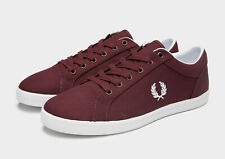 Fred Perry Baseline Ox Blood Canvas Trainers UK 7 **BNIB & UNUSED**