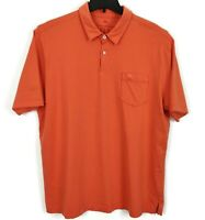 Tommy Bahama Relax Polo Shirt Large Orange 100% Pima Cotton Short Sleeve Pocket