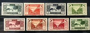 1936 Lebanon Tourists Propaganda (ski) Set SG 191-198 MNH Liban