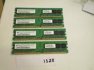 Micron 4x1Gb=4Gb PC2-5300 667Mhz DDR2 Desktop Memory RAM (1528)