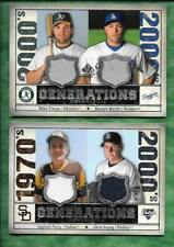 Mike Piazza Russell Martin 2008 SP Legendary Cuts dual jersey card GEN-PM