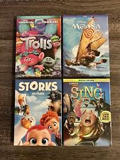 DVD Set Collection : Moana , Sing , Trolls & Storks. Fast Shipping