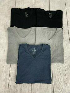 Fresh Clean Tee's Bundle.  V-Neck T-Shirts (Lot of 5) Men's XL