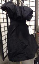 LANVIN H&M BLACK SHOULDER RUFFLED DRESS (4)