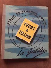 ALBUM DE TIMBRES YVERT ET TELLIER - LE GALILÉE - ALBUM ANCIEN - CARTES COULEURS