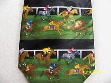 Equestrians! Horse racing, Jockey, derby, track theme men's necktie New!!  #6