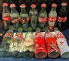 LOT OF 14 Christmas Coca Cola Bottles Coke Holiday Santa Decoration Rare Vintage