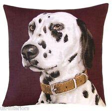 "18"" Dalmatian Woven Belgian Tapestry Cushion 45cm Belgium Dog"