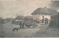 AK, Grafik, Russisches Bauerndorf - Teilansicht, um 1910; 5026-59
