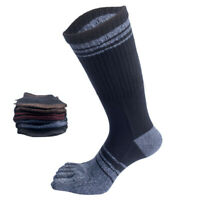 Mens Long Five Finger Socks Heel Japanese Cotton Thick Warm Breathable Toe Socks