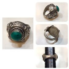 Afghanistan old rings turquoise stone rings silver plated very beautiful rings O
