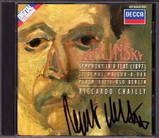 Riccardo Chailly firmato Zemlinsky Symphony in B flat Salmo 23 DECCA CD