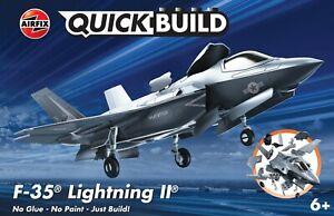 "Brand New Airfix Quick Build ""Fits The Box"" F-35B Lightning II Model Kit."
