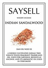Indian Sandalwood Woody 20 Incense Joss Sticks Agarbatti - TOP QUALITY FRAGRANCE