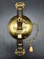 Vintage San Francisco Cable Car (SFC Co) Solid Brass Trolley Bell Door Knocker