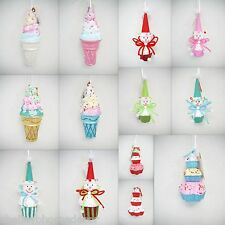 Mixed Lot Candy Decorations Set/14 Christmas ornament cupcake ice cream NEW