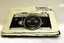 Canon Ftb camera Instruction Guide - - English En ( missing pages )