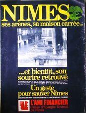 AFFICHE PUB ANCIENNE CAISSE D'ÉPARGNE INONDATIONS DE NIMES 1988