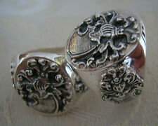 Heraldic Family Crest Signet Ring Silver