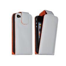 Housse étui coque pour Apple Iphone 4 couleur blanc + film protecteur ecran