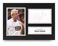 Alan Smith Signed A4 Photo Display Leeds United Autograph Memorabilia + COA