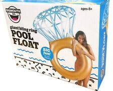 BIG MOUTH GIANT DIAMOND ENGAGEMENT BLING RING SWIMMING POOL PARTY FLOAT NEW