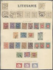 Lithuania - Lot of MH/Used Stamps on Collector Page 10000/44
