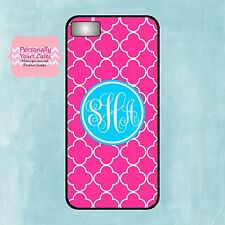 Hot Pink Quatrefoil Phone Case compatible with iPhone 6 Galaxy S5 Note 4