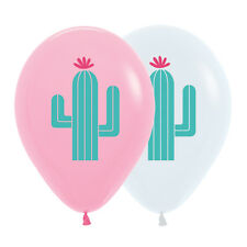 Cactus Fashion 30cm Pink and White Latex Balloons Ink 6pk