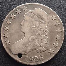 Estados unidos 1826 capped Bust half dólares 50 centavos filadelfia plata raramente 2113