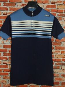 Shirt Bike Shirt Maillot Cycling Heroic Vintage 70'S Santini 80% Wool Yarn