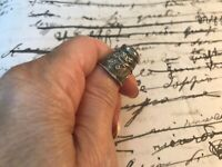 Antique Sterling Silver .880 Thimble Hand Wrought Circa 1850s